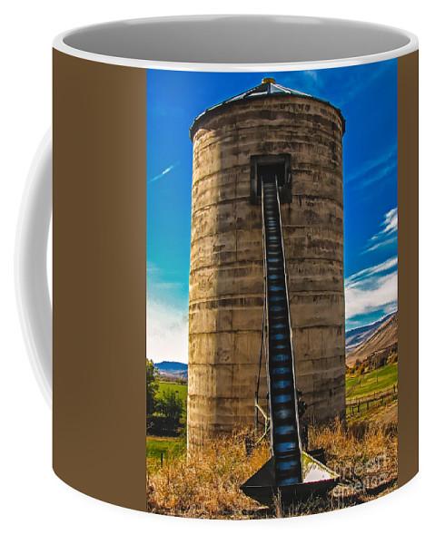 Artsy Coffee Mug featuring the photograph Farm Silo by Robert Bales