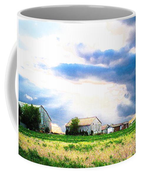 Farms Coffee Mug featuring the photograph Farmer's Field At Sundown by Nina Silver