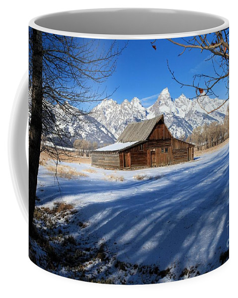 Grand Teton National Park Coffee Mug featuring the photograph Farmers View by Adam Jewell