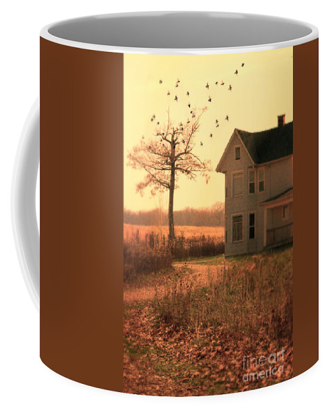 House Coffee Mug featuring the photograph Farmhouse By Tree by Jill Battaglia
