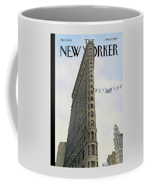 Fashion District Coffee Mug featuring the painting Fashion District by Harry Bliss
