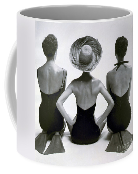 Fashion Coffee Mug featuring the photograph Fashion Models In Swim Suits, 1950 by Science Source