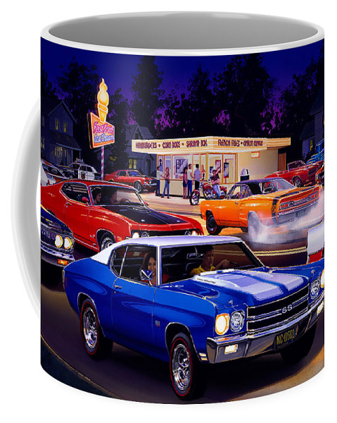 Ice Cream Stand Coffee Mug featuring the photograph Fast Freds by Bruce Kaiser