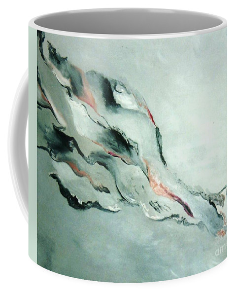 Abstract Clouds Coffee Mug featuring the painting Father-part 2 by Graciela Castro