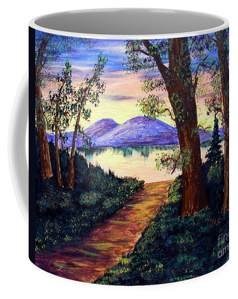 Barbara Griffin Coffee Mug featuring the painting Favorite Fishing Spot by Barbara Griffin