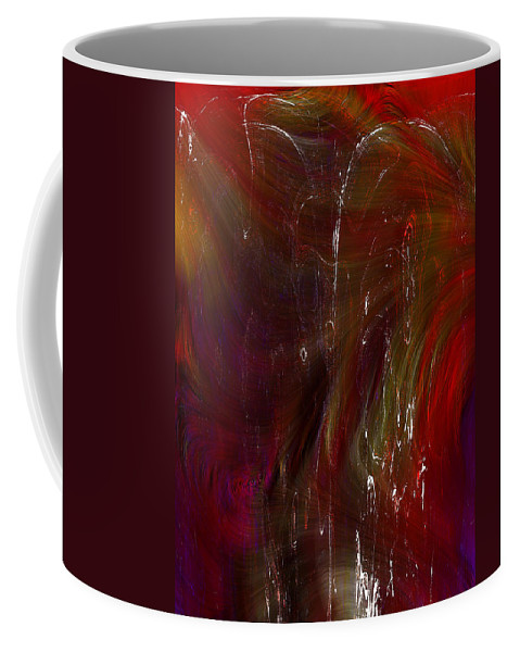 Abstract Coffee Mug featuring the digital art Fear Of Falling by Richard Thomas
