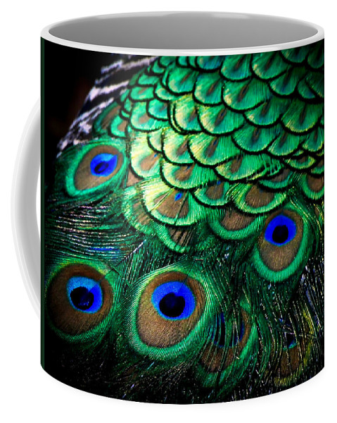 Exotic Birds Coffee Mug featuring the photograph Feather Abstract by Karen Wiles