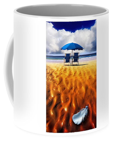 Feather Coffee Mug featuring the photograph Feather Light by Mal Bray