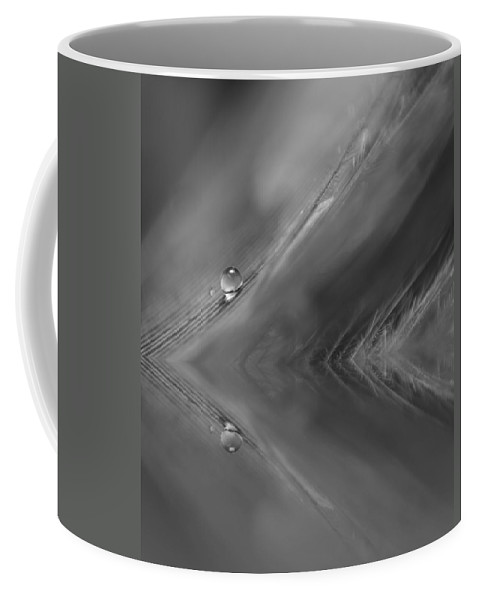 Feather Coffee Mug featuring the photograph Feather Reflections by Lauri Novak