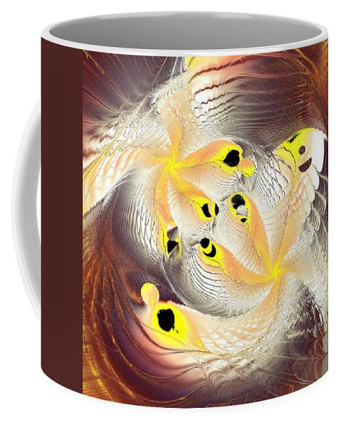 Computer Coffee Mug featuring the digital art Feathers by Anastasiya Malakhova