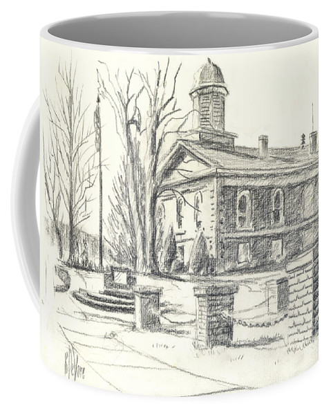 February Morning No Ctc102 Coffee Mug featuring the drawing February Morning No Ctc102 by Kip DeVore