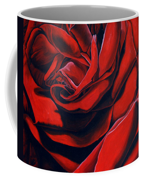 Rose Coffee Mug featuring the painting February Rose by Thu Nguyen