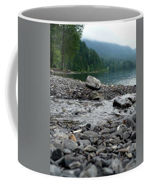Water Coffee Mug featuring the photograph Feeding The Lake by Nicki Bennett