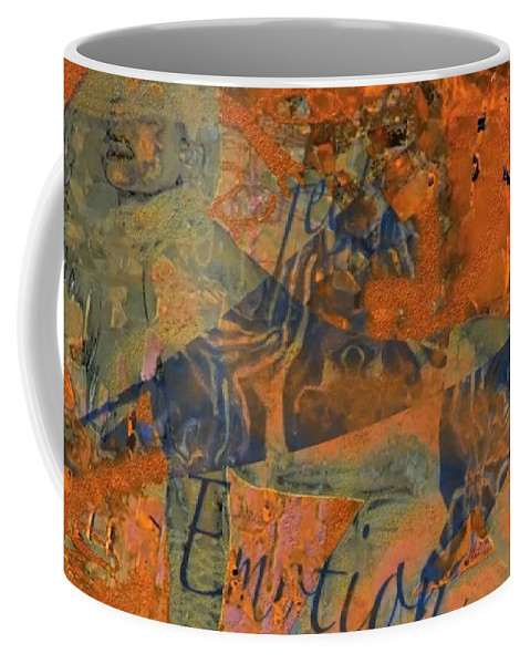 Abstract Art Coffee Mug featuring the photograph Feel Emotion Orange And Green by Deprise Brescia