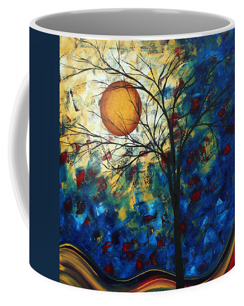 Decorative Coffee Mug featuring the painting Feel The Sensation By Madart by Megan Duncanson