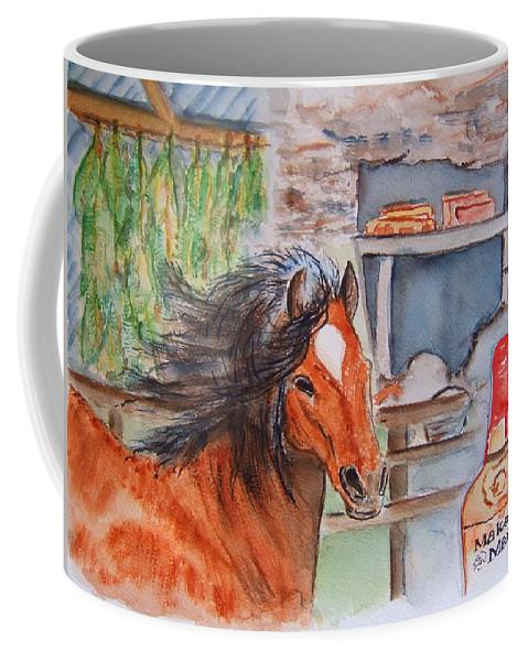 Kentucky Coffee Mug featuring the painting Feeling Kentucky by Elaine Duras