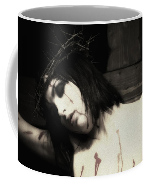 Woman Coffee Mug featuring the photograph Female Christ Portrait II by Ramon Martinez
