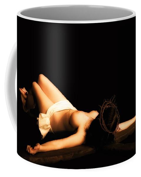 Woman Coffee Mug featuring the photograph Female Crucifix Xviii Century by Ramon Martinez