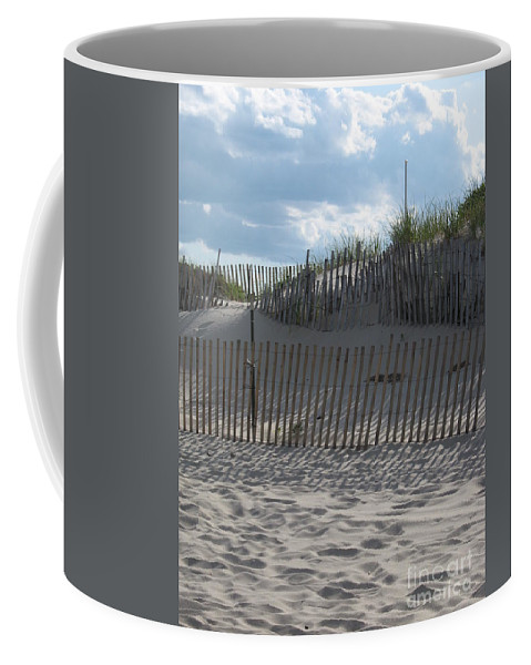 Fence Coffee Mug featuring the photograph Fenced Dune by Christiane Schulze Art And Photography
