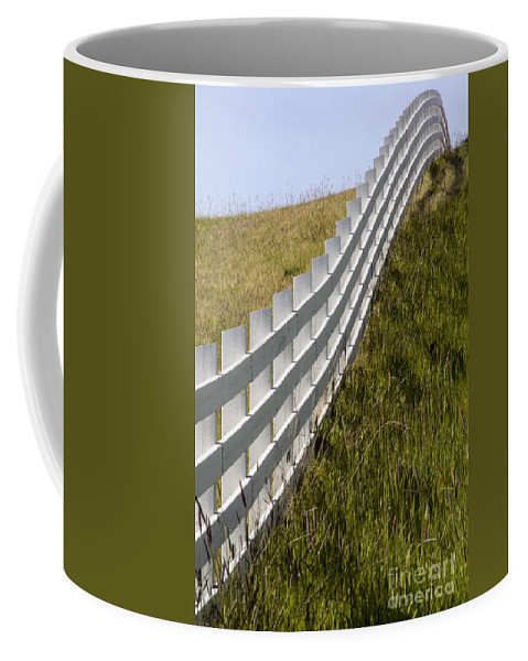 Palouse Area Coffee Mug featuring the photograph Fenced In Or Fenced Out by Bob Phillips