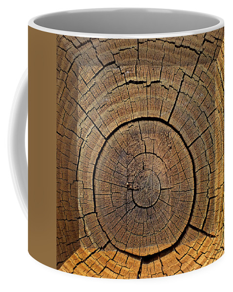Wood Coffee Mug featuring the photograph Fencepost Top 1 by Duane McCullough