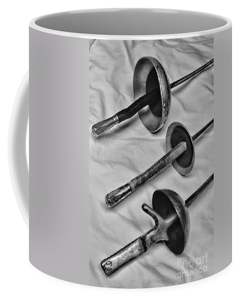 Paul Ward Coffee Mug featuring the photograph Fencing - Fencing Swords by Paul Ward