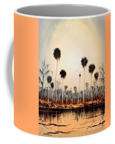 Florida Rivers Coffee Mug featuring the painting Fenholloway River Florida by Bill Holkham