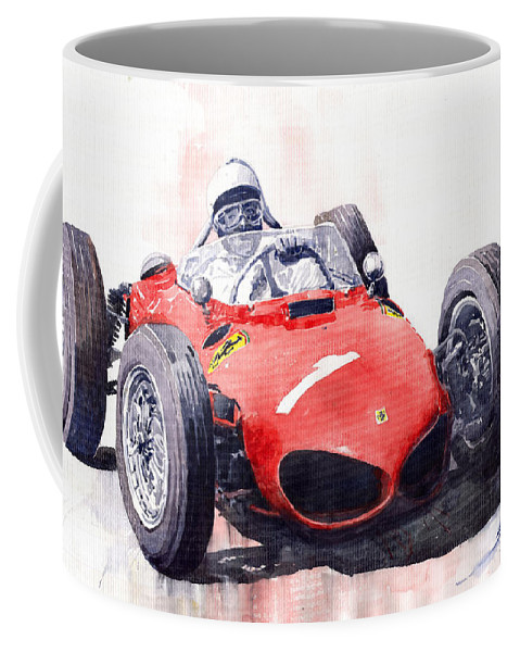Car Coffee Mug featuring the painting Ferrari Dino 156 F1 1961 by Yuriy Shevchuk