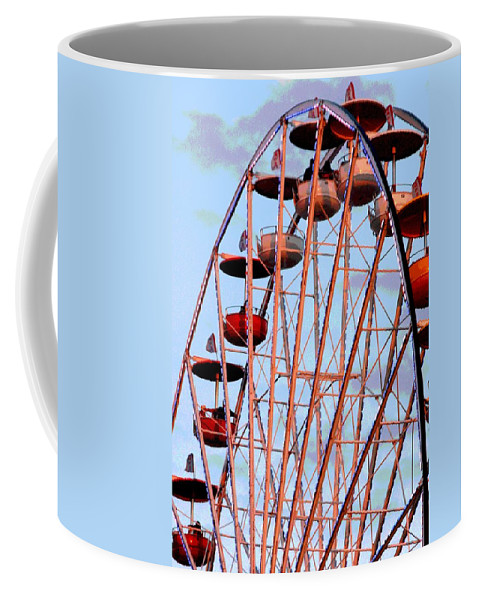 Ferris Wheel Coffee Mug featuring the photograph Ferris Wheel At Sunset by Joe Kozlowski