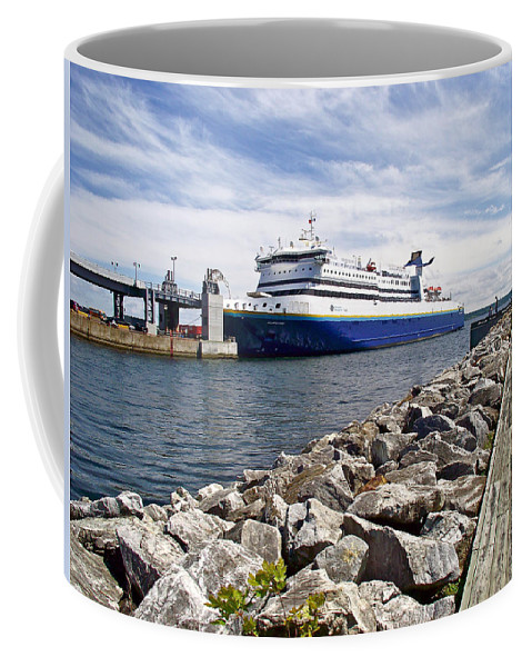 Ferry From North Sydney-ns To Argentia Coffee Mug featuring the photograph Ferry From North Sydney-ns To Argentia-nl by Ruth Hager