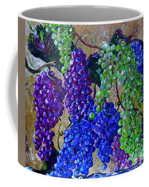 Grapes Coffee Mug featuring the painting Festival Of Grapes by Eloise Schneider