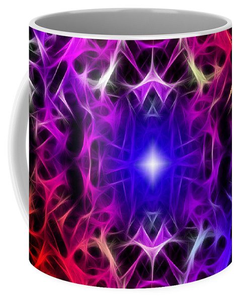 Color Coffee Mug featuring the digital art Fibers by Stephen Younts