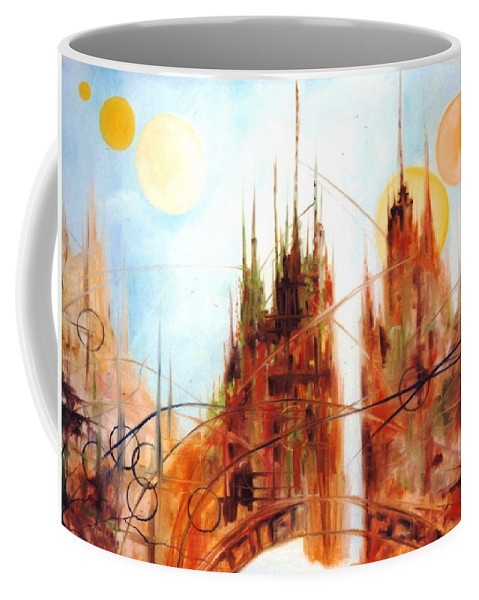 Lyle Coffee Mug featuring the painting Fiction 1 by Lord Frederick Lyle Morris - Disabled Veteran