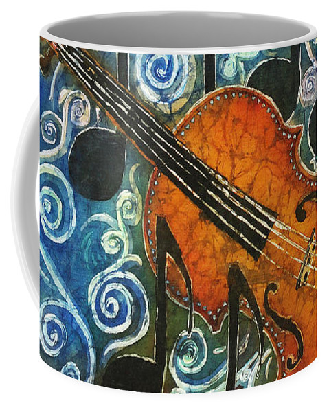 Fiddle Coffee Mug featuring the painting Fiddle 1 by Sue Duda