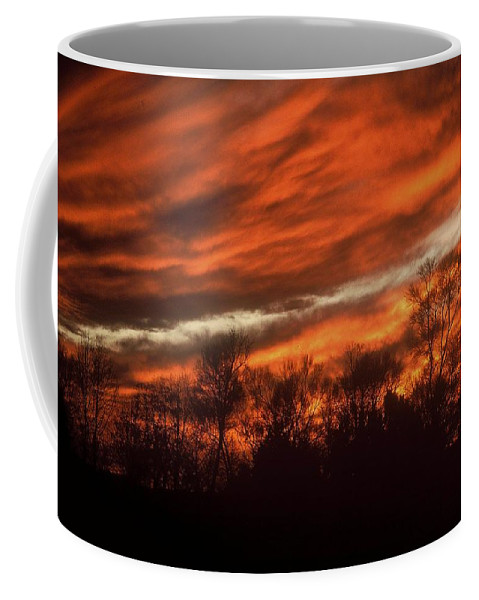 Sunsets Coffee Mug featuring the photograph Fiery Sky by Rodney Lee Williams