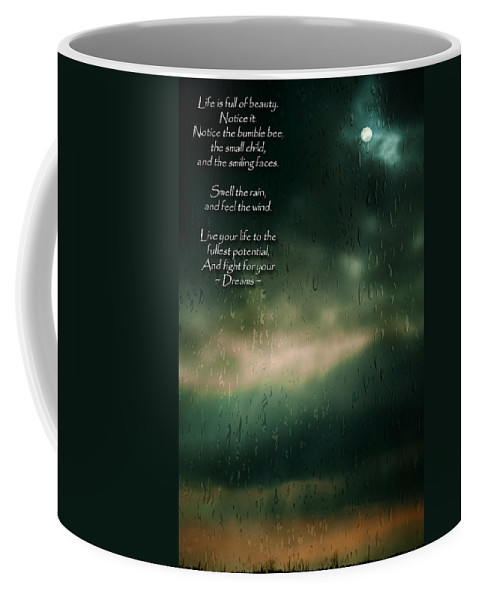 Blue Coffee Mug featuring the photograph Fight For Your Dreams by Jordan Blackstone