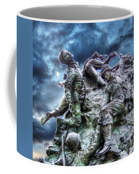 Freedom Coffee Mug featuring the photograph Fight On by Dan Stone