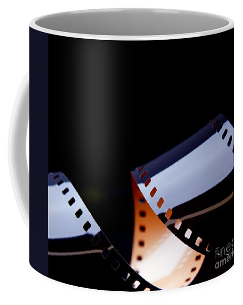 35mm Coffee Mug featuring the photograph Film Strip Abstract by Tim Hester