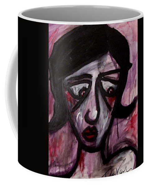 Portait Coffee Mug featuring the painting Finals by Thomas Valentine