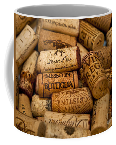 Wine Coffee Mug featuring the photograph Fine Wine Corks by David Millenheft