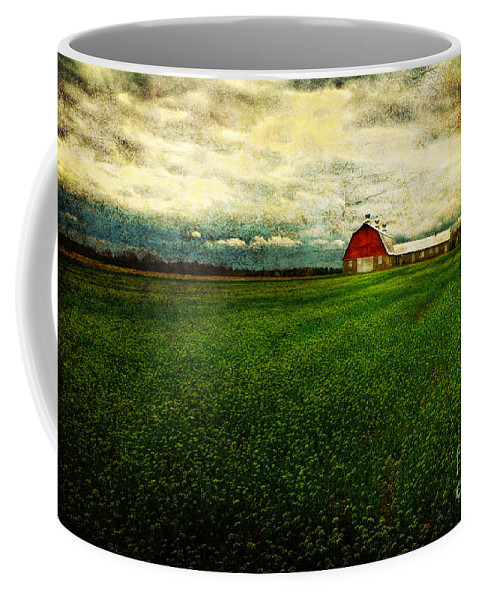 Barn Coffee Mug featuring the photograph Finished by Lois Bryan