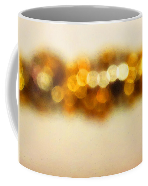Buy Coffee Mug featuring the painting Fire Dance - Warm Sparkling Abstract Art by Sharon Cummings