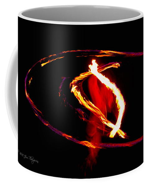Fire Dancer Coffee Mug featuring the photograph Fire Dancer 2 by Jim Thompson