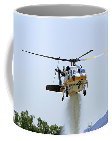 Aviation Coffee Mug featuring the photograph Fire Hawk Water Drop by Shoal Hollingsworth