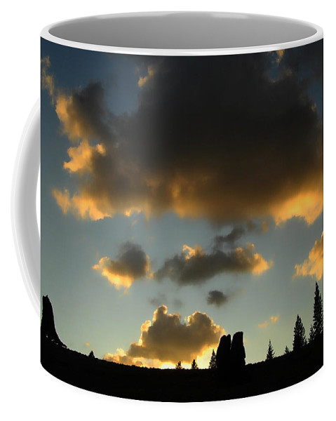 Sunset Coffee Mug featuring the photograph Fire In The Sky by Donna Blackhall