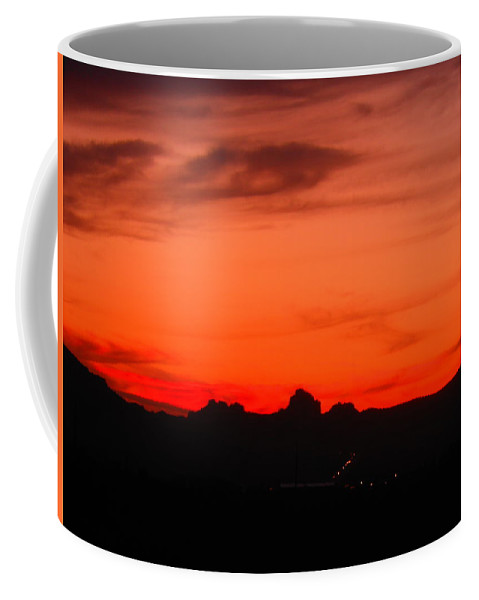 Landscape Coffee Mug featuring the photograph Fire In The Sky by James Welch