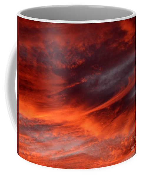 Sunset Coffee Mug featuring the photograph Fire in the Sky by Julia Walsh