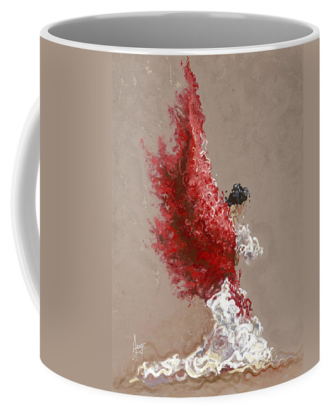 Dance Coffee Mug featuring the painting Fire by Karina Llergo