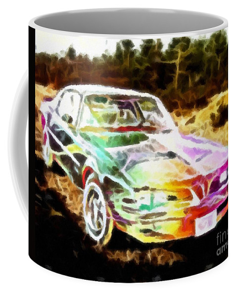 Firebird Expressive Brushstrokes Coffee Mug featuring the photograph Firebird Expressive Brushstrokes by Barbara Griffin