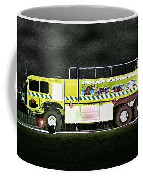 Fire Engine Coffee Mug featuring the photograph Firefighters Christmas 2 by Tommy Anderson